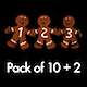 Gingerbread Numbers - Pack of 10 + 2 - VideoHive Item for Sale