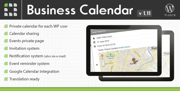 CodeCanyon Business Calendar Wordpress Internal Calendar 2578840