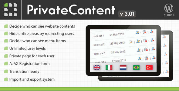 CodeCanyon PrivateContent Multilevel Content Plugin 1467885