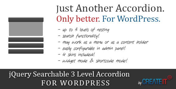 CodeCanyon jQuery Searchable 3 Level Accordion For Wordpress 2674697
