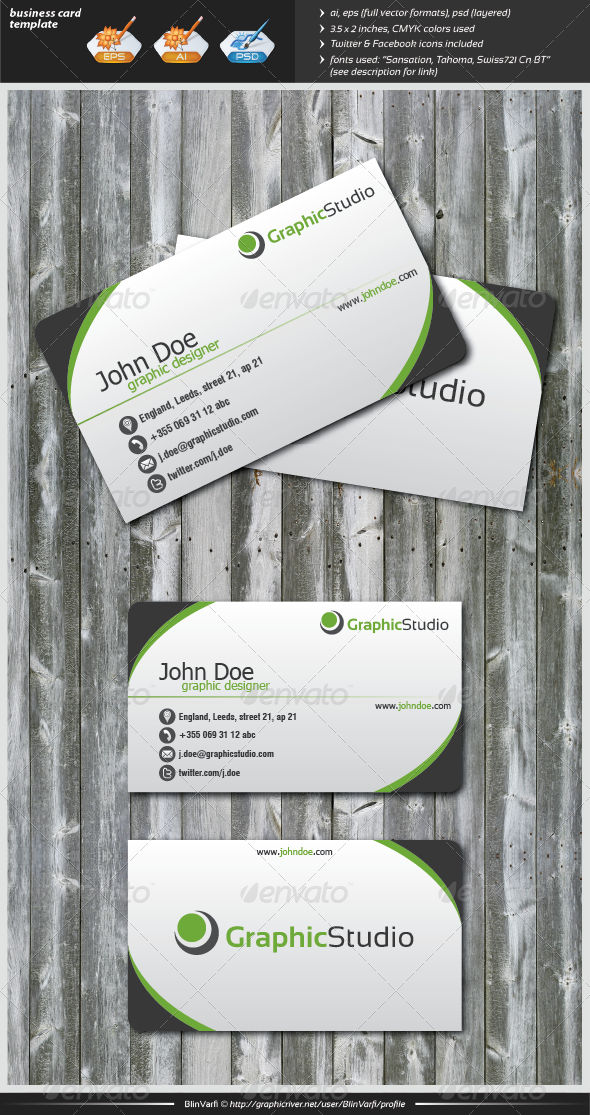 GraphicRiver Simple Business Card 2813266