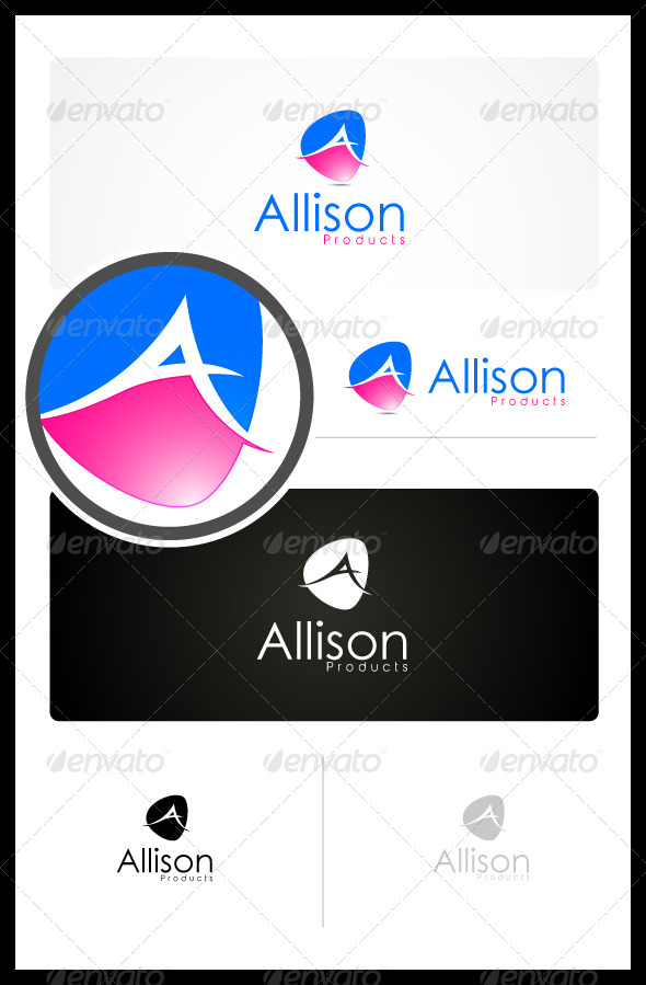 Allison Beauty Products - Letters Logo Templates