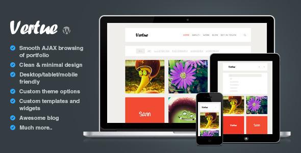 ThemeForest Vertue clean and minimal AJAX portfolio theme 3642961
