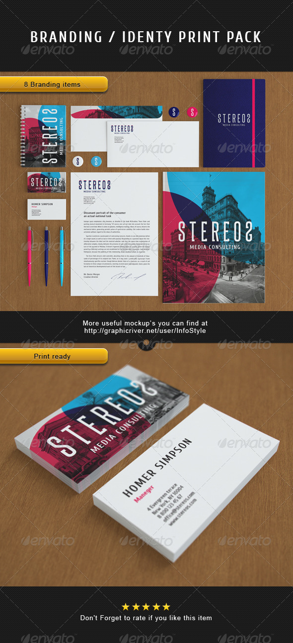 GraphicRiver STEREOS Vector Branding Print Pack 3643514