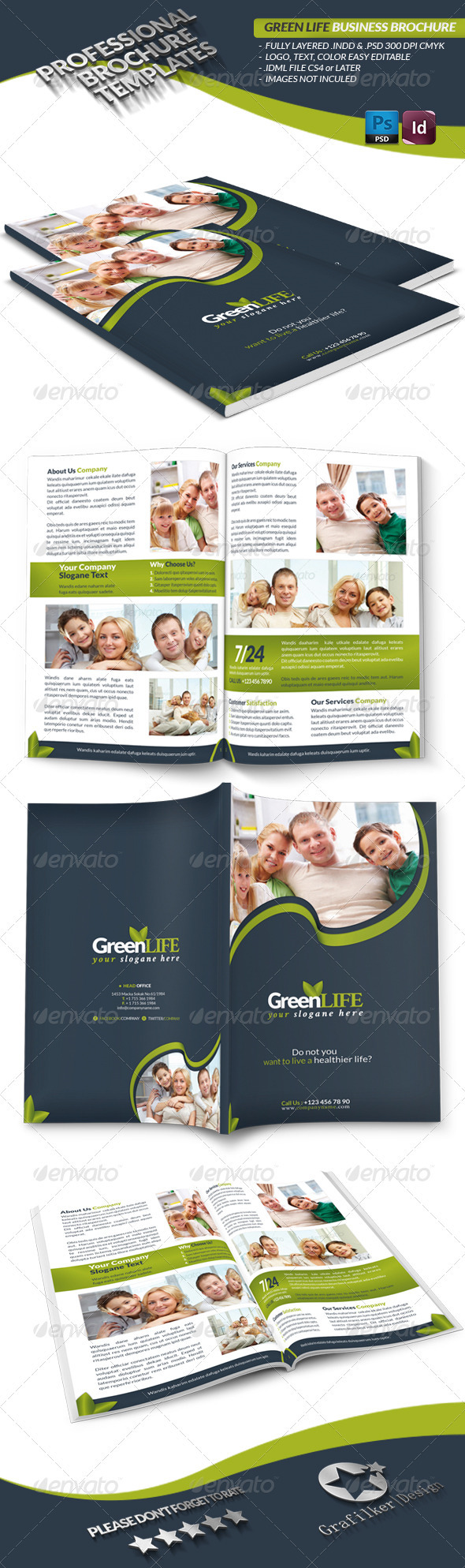 GraphicRiver Green Life Business Brochure 3643566
