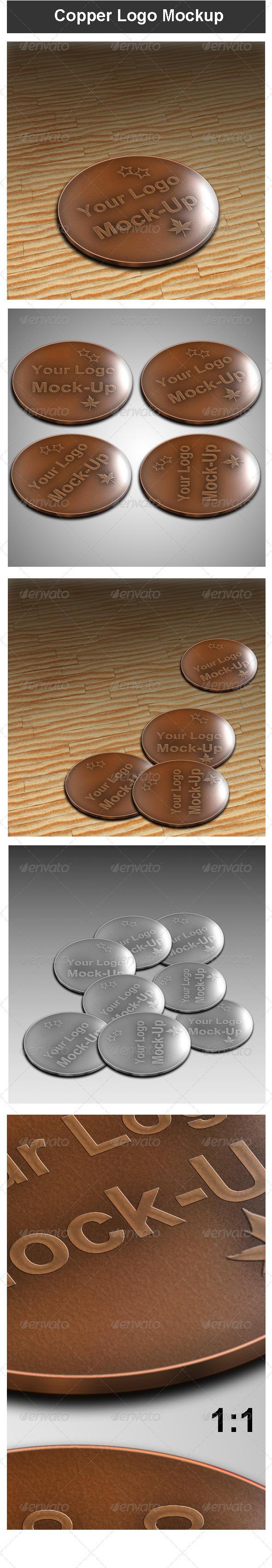 GraphicRiver Copper Logo Mock-up 3643633