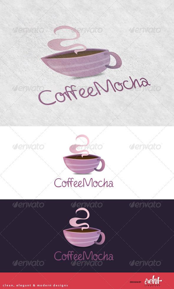 GraphicRiver CoffeeMocha Coffee Shop Logo Template 3643994