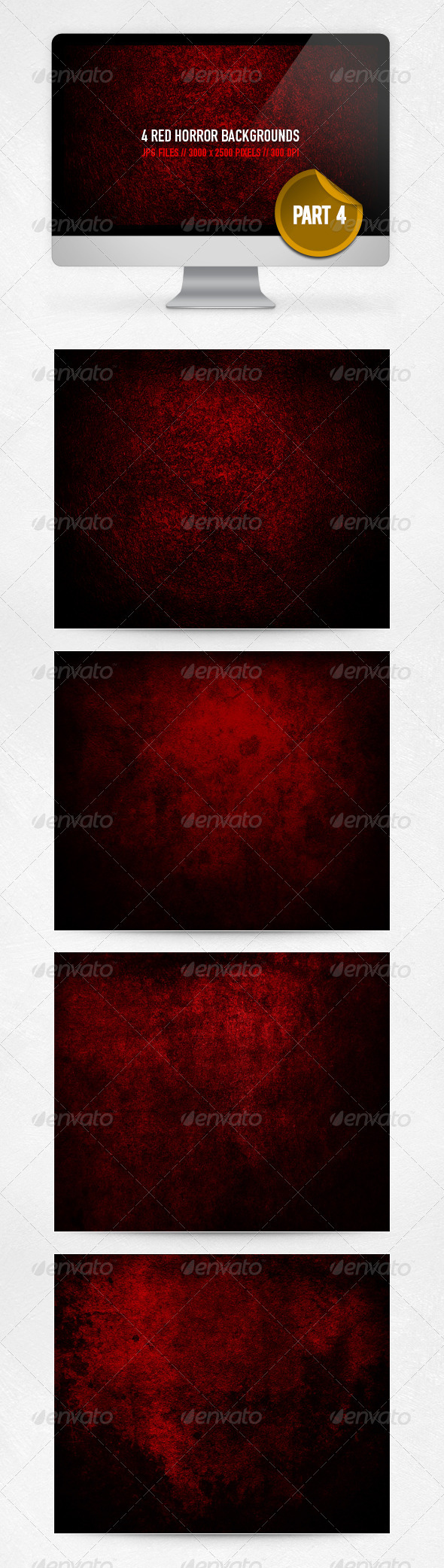 GraphicRiver Red Horror Backgrounds Part 4 3644469