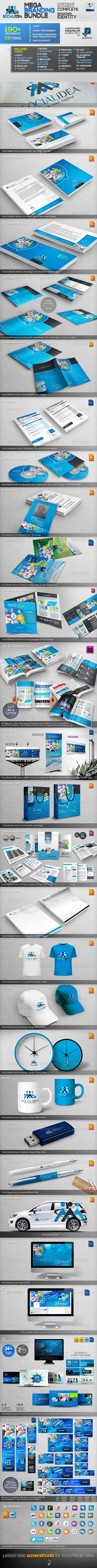 GraphicRiver Socialidea Social Media ID Mega Branding Bundle 3598981