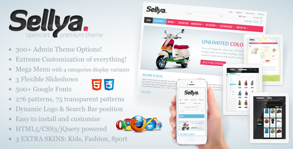 ThemeForest Sellya Responsive OpenCart Theme 3431353