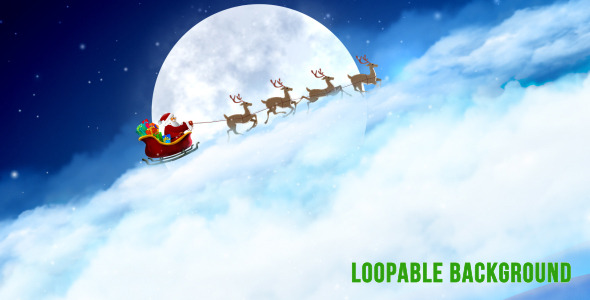 Santa Claus' Sleigh Background by masterdot | VideoHive