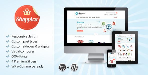 ThemeForest Shoppica Responsive E-commerce WordPress Theme 3644899