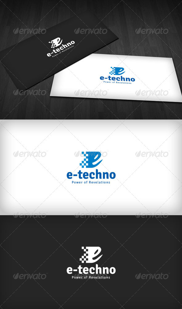 GraphicRiver E-Technology Logo 3645017