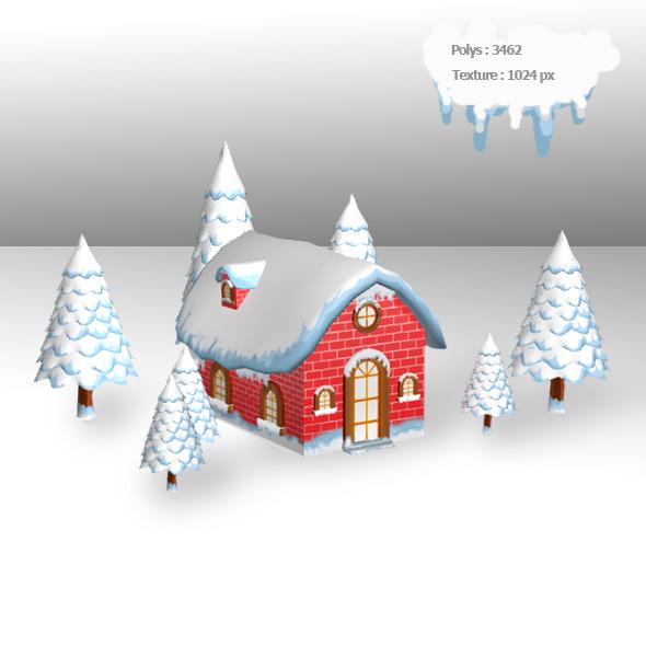 3DOcean Christmas House 3645072
