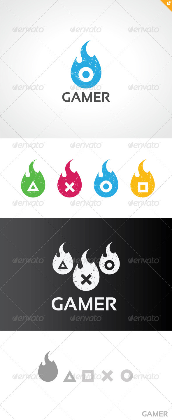 GraphicRiver Gamer Logo V2 3645675