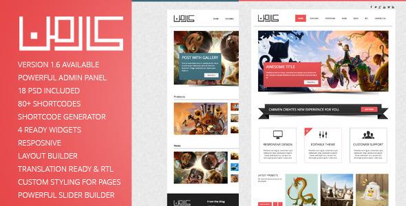 ThemeForest Carmen Multi-Purpose Responsive WordPress Theme 2910883