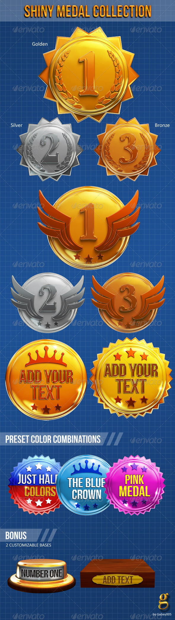 GraphicRiver Shiny Medal Collection 3645935