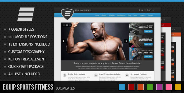 ThemeForest Equip Joomla Sports and Fitness Theme 3646370