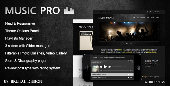 ThemeForest Music Pro Music Oriented WordPress Theme 1582368