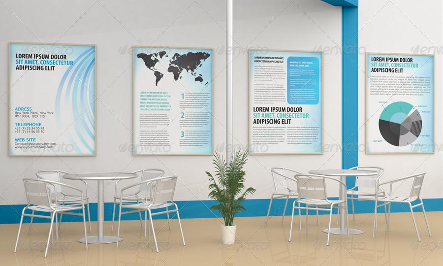Graphicriver Exhibition Stand Design Mockup : Exhibition stand design mockup by bagera graphicriver