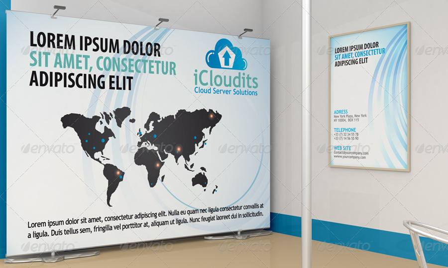 Exhibition Stand Design Mockup Psd : Exhibition stand design mockup by bagera graphicriver
