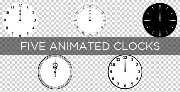 Five Animated Clocks