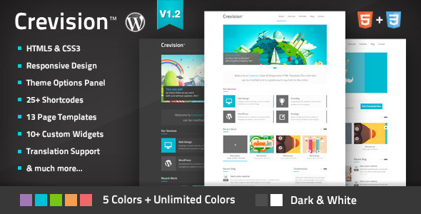 ThemeForest Crevision Responsive WordPress Theme 3538153
