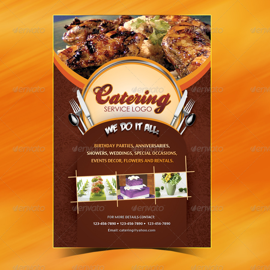 catering menu template flyer by owdesigns graphicriver. Black Bedroom Furniture Sets. Home Design Ideas