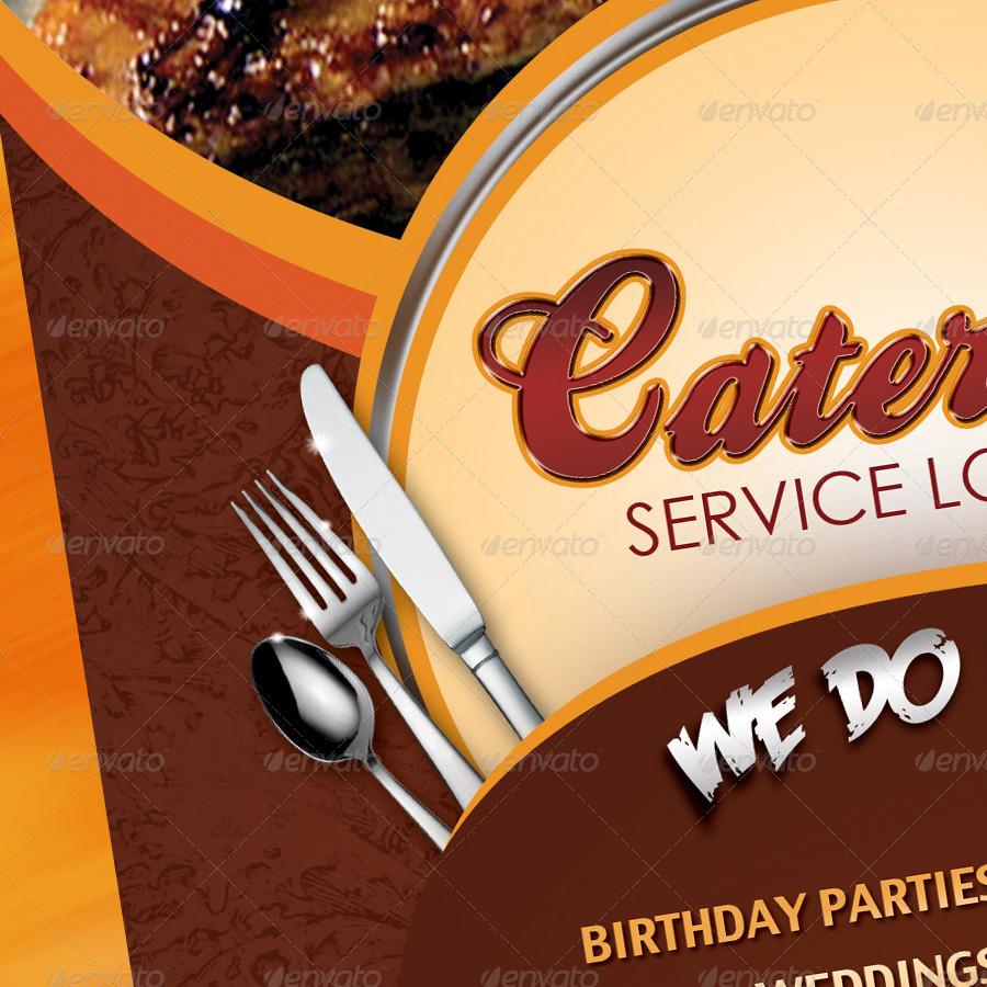 Catering Menu Template Flyer by owdesigns – Sample Catering Menu Templates