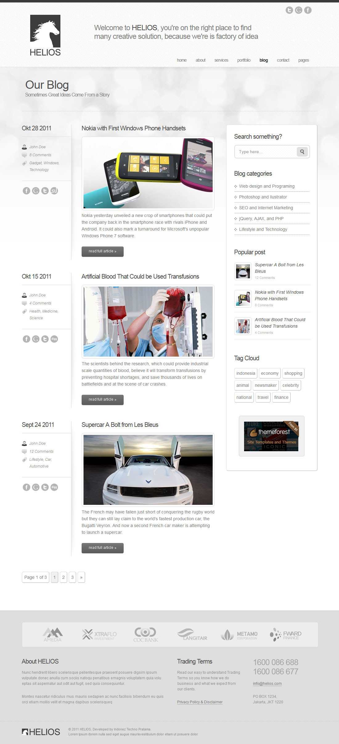 Helios - Minimalist Business Wordpress Theme 7