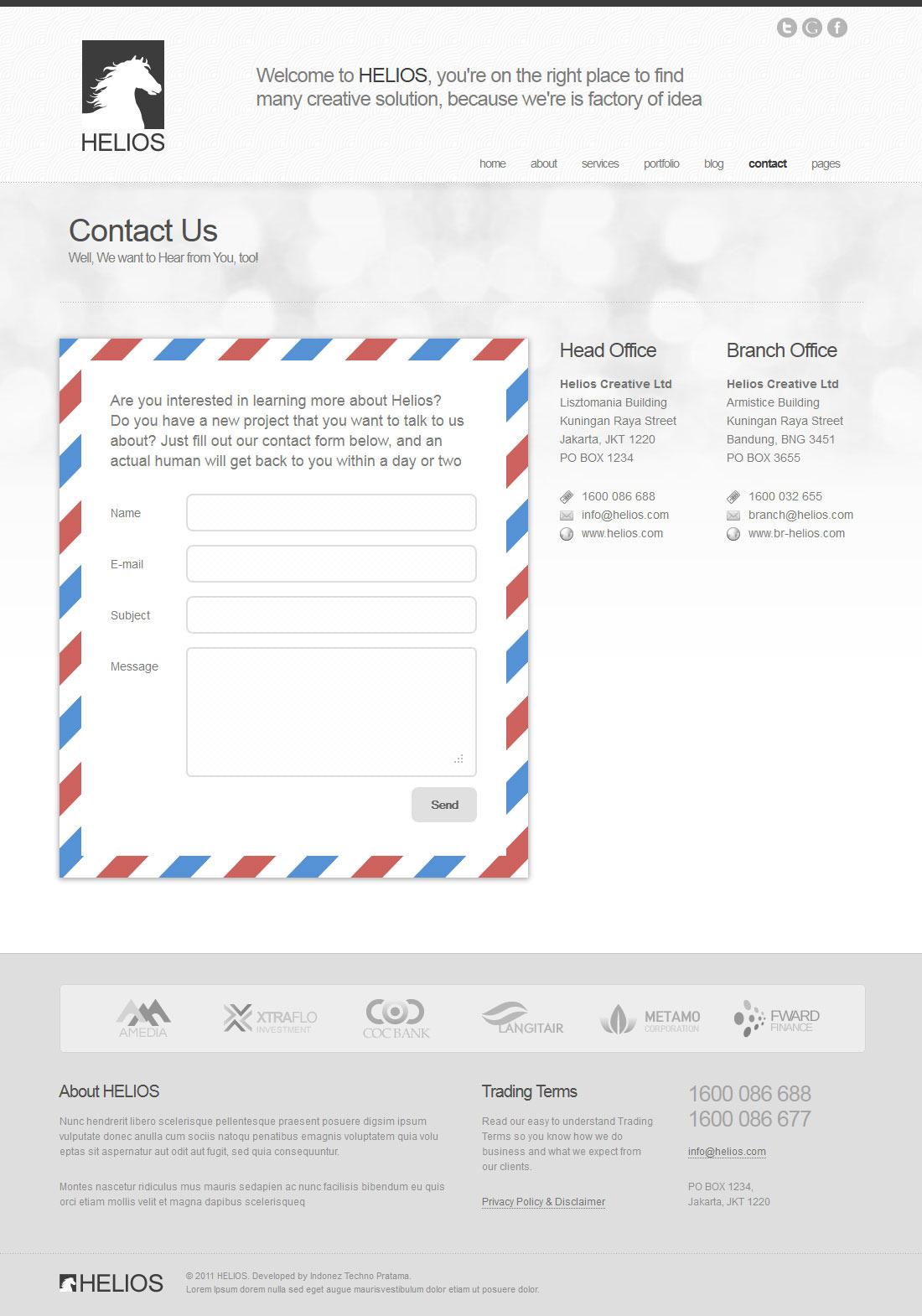 Helios - Minimalist Business Wordpress Theme 7