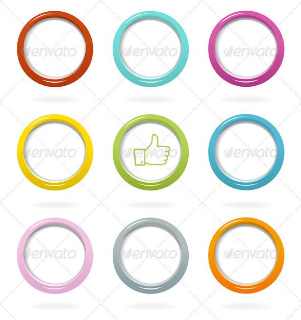 GraphicRiver Colorful Web Bubbles Set 3603366