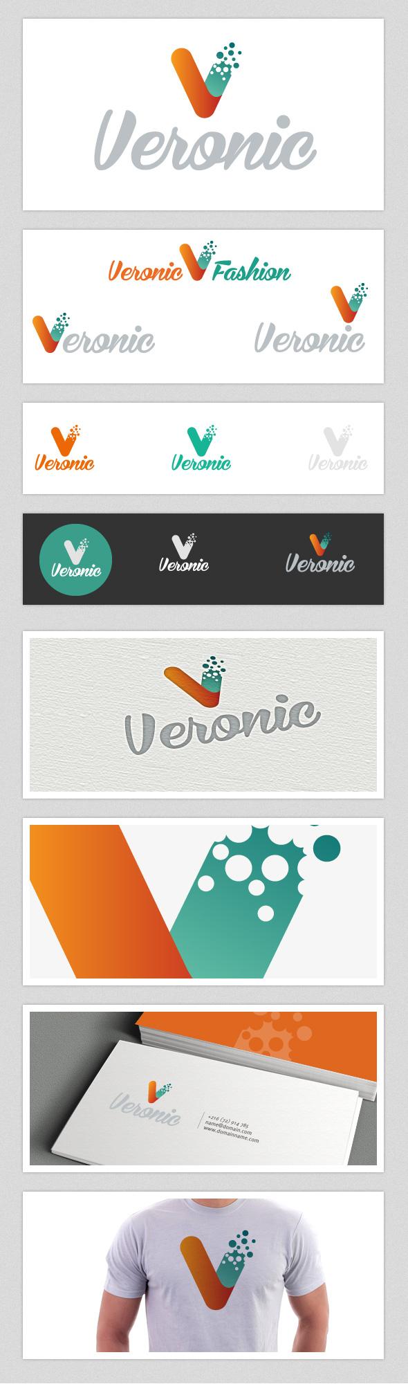 GraphicRiver Veronic Fashion V Letter Logo 3434834