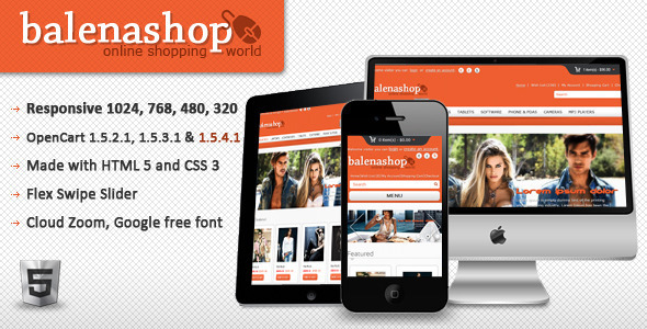 ThemeForest Balenashop HTML 5 Open Cart Theme 2493846