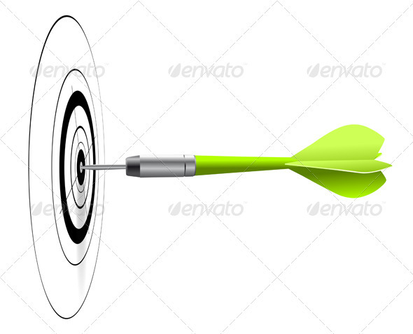 GraphicRiver Dart and Target Vector Image 3647466