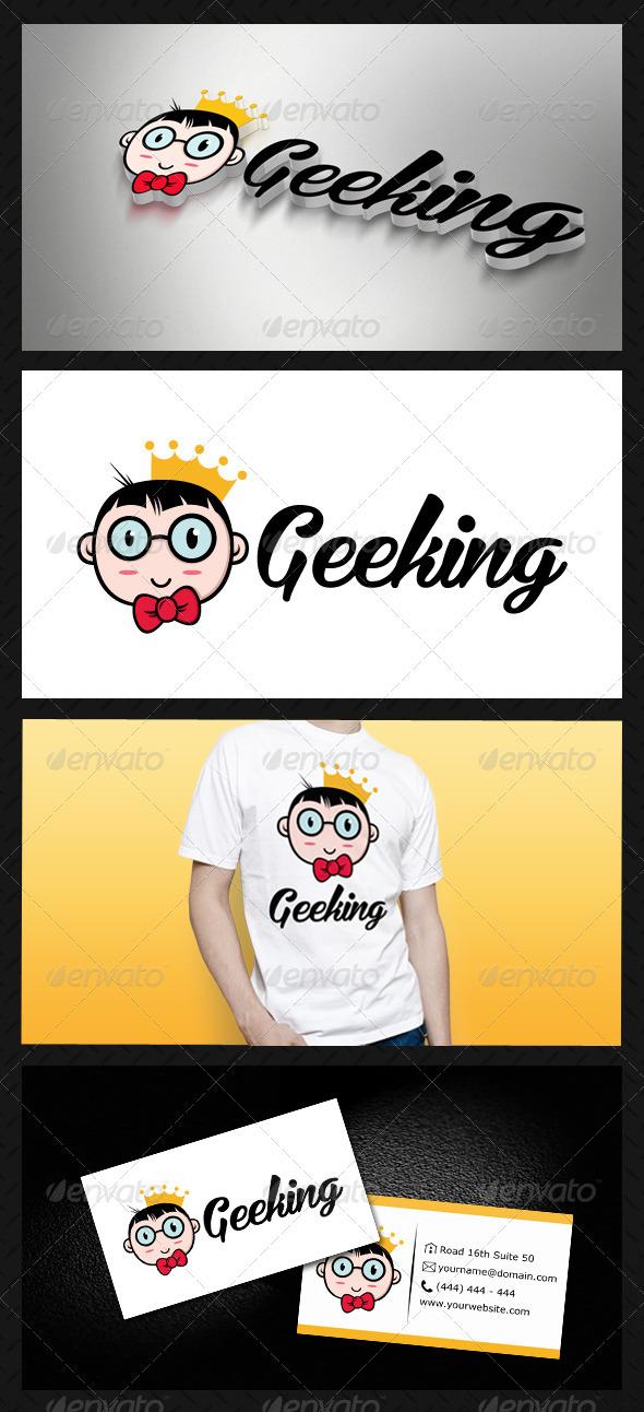 GraphicRiver Geek King Geeking Logo Template 3614095