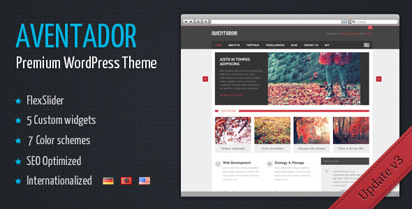 Aventador - Premium WordPress Theme