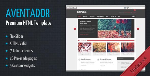 Aventador - Premium HTML Template