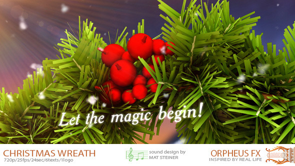VideoHive Magical Christmas Wreath 3648089