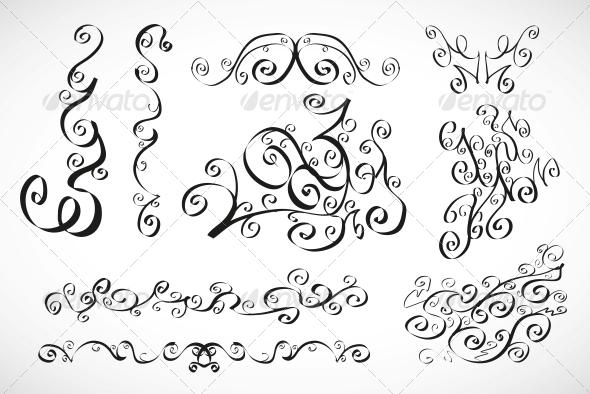 GraphicRiver Vector Calligraphic Design Elements