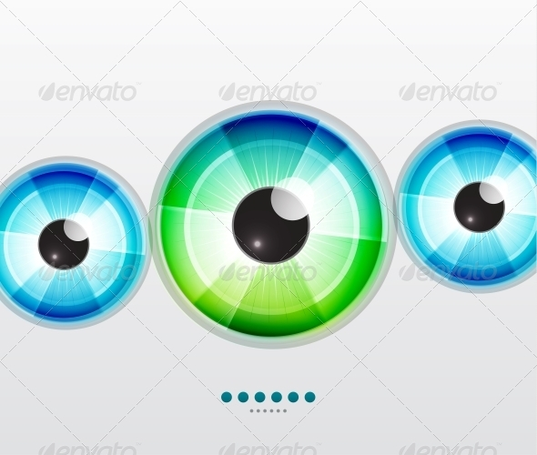 GraphicRiver Abstract Techno Eye Vector Illustration 3648162