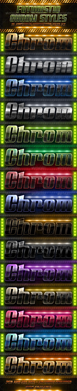 GraphicRiver Futuristic Chrome Styles 3648197