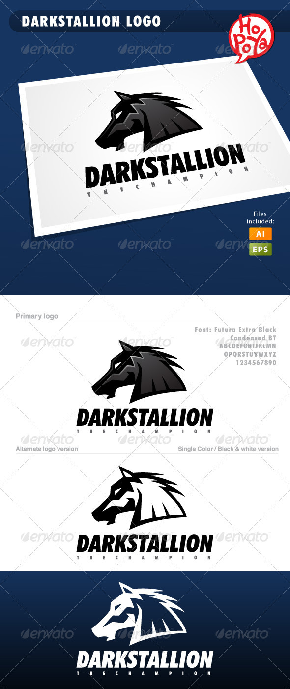 Darkstallion Logo - Animals Logo Templates