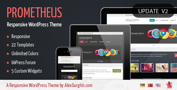 Prometheus - A Responsive WordPress Theme