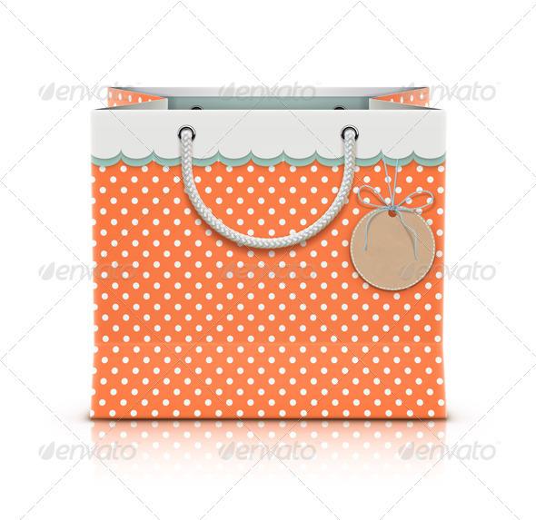 GraphicRiver Retro Paper Shopping Bag 3648907