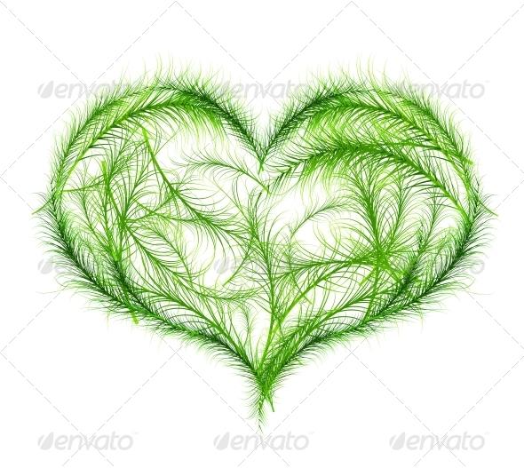 GraphicRiver Green Heart Vector Illustration 3648917