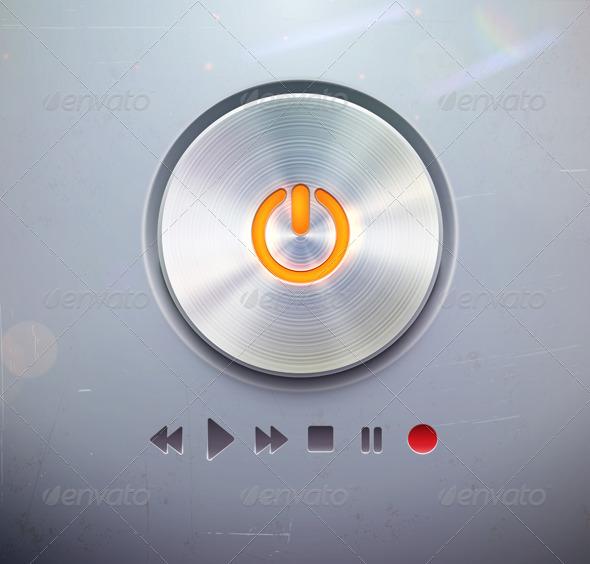 GraphicRiver Round Power Button 3648919