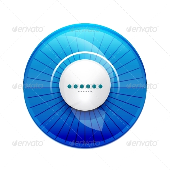 GraphicRiver Blue Glossy Control Panel 3648949