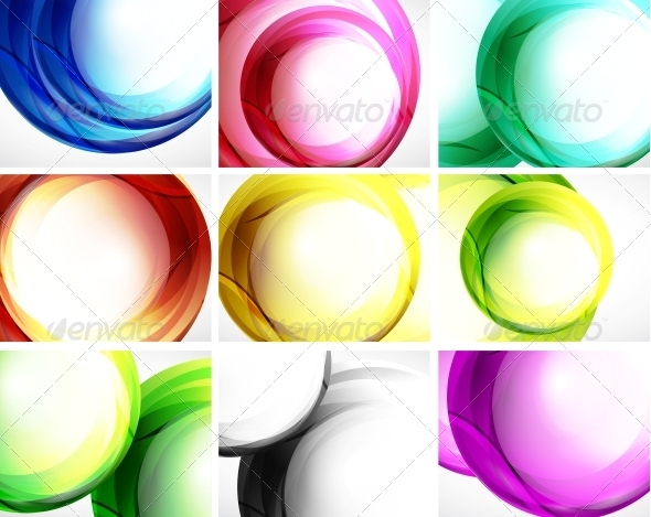 GraphicRiver Set of Swirl Backgrounds 3649242