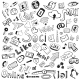 Vector Hand-drawn Icons - Modern Social  - GraphicRiver Item for Sale
